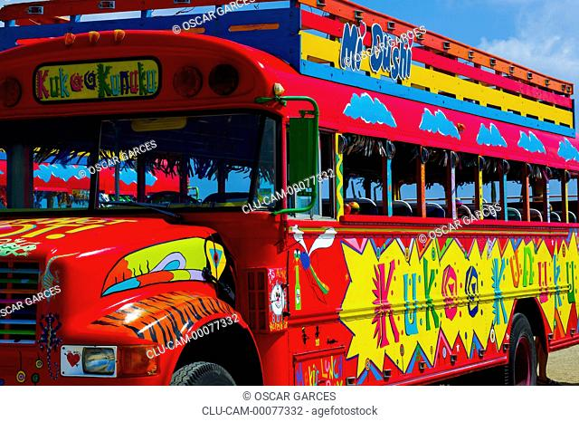 Bus Kukoo Kunuku, Aruba, Oranjestad, Lesser Antilles, Central America
