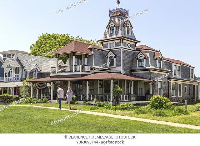 A Victorian era home on Ocean Avenue in Oak Bluffs, Massachusetts on Martha's Vineyard