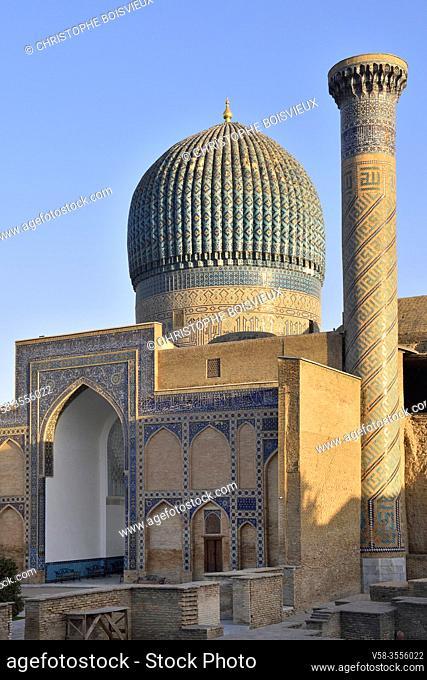 Uzbekistan, Unesco World Heritage Site, Samarkand, Gur-e-Amir mausoleum