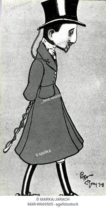 gabriele d'annunzio, caricature