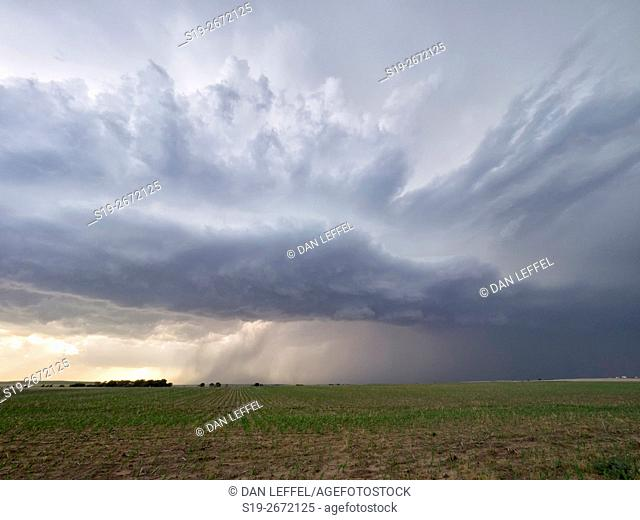 Super Cell Storm Over Kansas