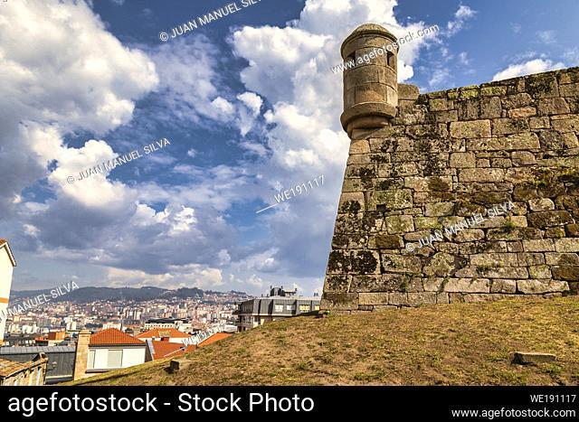 Fortaleza De San Sebastian in the mountain of Castro, Vigo, Pontevedra, Galicia, Spain