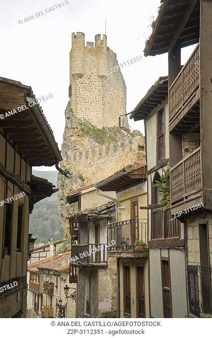 Castle in Frias medieval town of Burgos province, one of the most beautiful villages in Spain