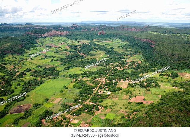Landscape, Nature, Maracaju Mountain, Mato Grosso do Sul, Brazil