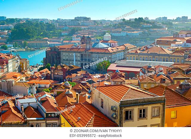 architecture of Ribeira - the Old Town of Porto, Portugal