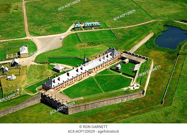 aerial, Fortress Louisbourg NHS, Louisbourg, Nova Scotia