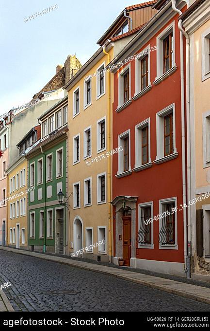 Baroque houses in Kränzelstraße, Görlitz (Goerlitz), Germany