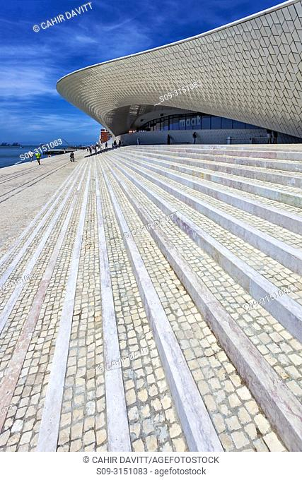 The MAAT (Museum of Art, Architecture and Technology), on the Tagus River, designed by Amanda Levete Architects, Lisbon, Lisboa, Portugal