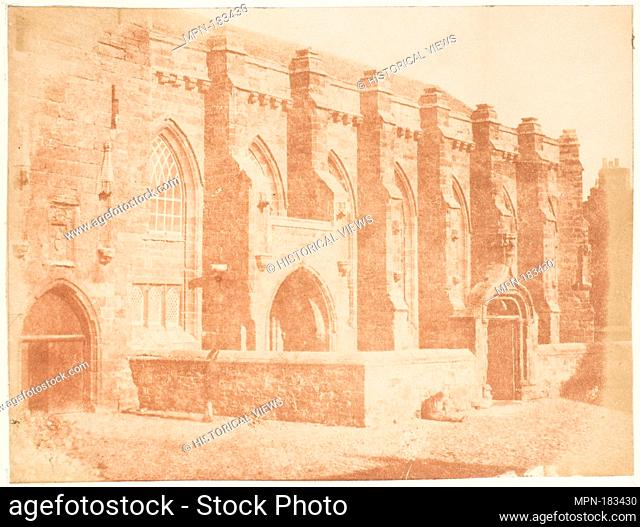 St. Andrews. The College Church of St. Salvator. Photography Studio: Hill and Adamson (British, active 1843-1848); Artist: David Octavius Hill (British, Perth