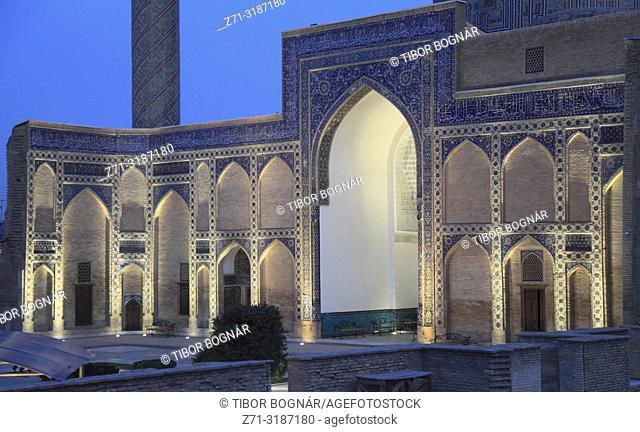 Uzbekistan, Samarkand, Gur-e-Amir, Guri Amir, Mausoleum of, Tamerlane, Timur,