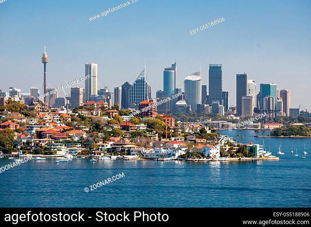 Sydney skyline from Watson's Bay in Sydney, Australia