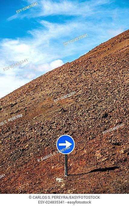 Traffic symbol in Lanzarote, Canary Islands, Spain