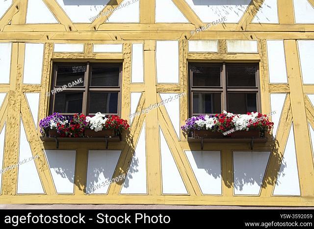 Window boxes, Nuremberg, Bavaria, Germany