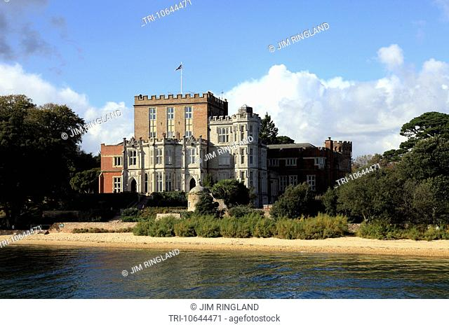 The castle on Brownsea Island, Poole Harbour, Dorset, England