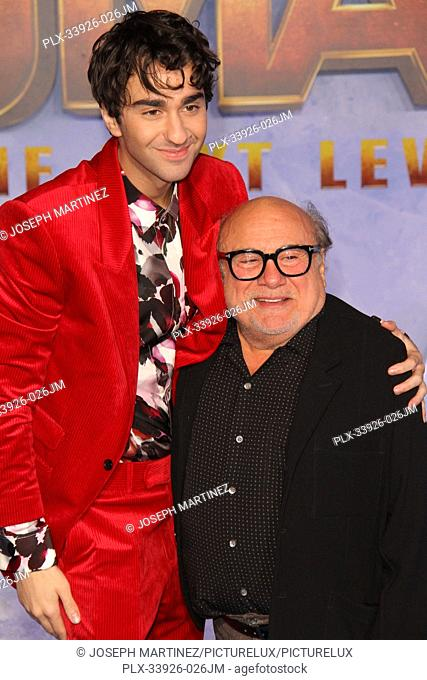 """Alex Wolff, Danny DeVito at Sony Pictures' """"""""Jumanji: The Next Level"""""""" World Premiere held at the TCL Chinese Theater in Hollywood, CA, December 9, 2019"""
