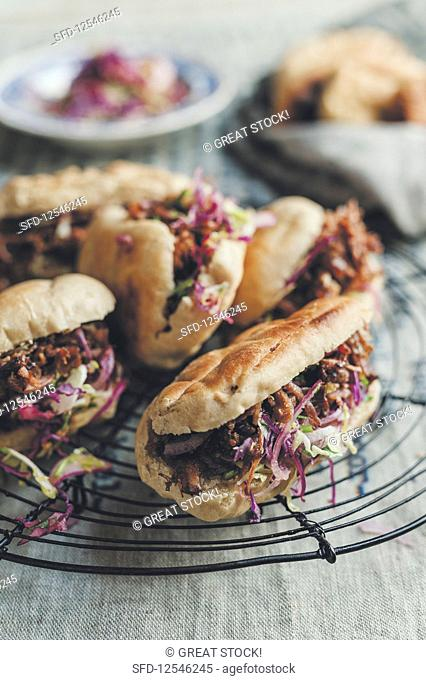 Pulled beef and Coleslaw Sandwiches
