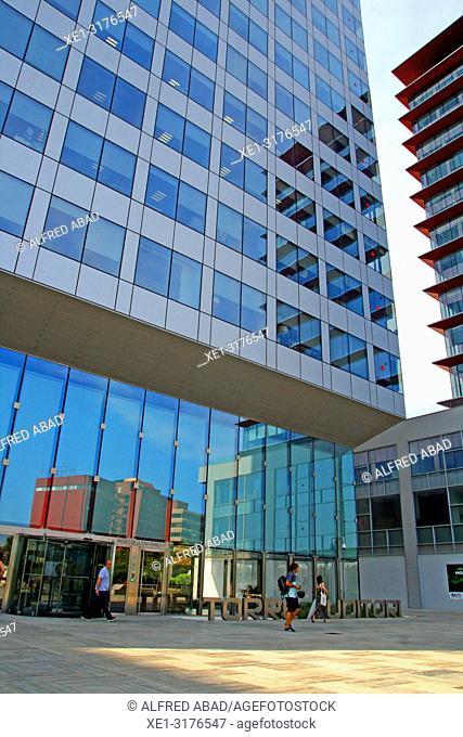 Auditori tower, Zona Franca, Barcelona, Catalonia, Spain