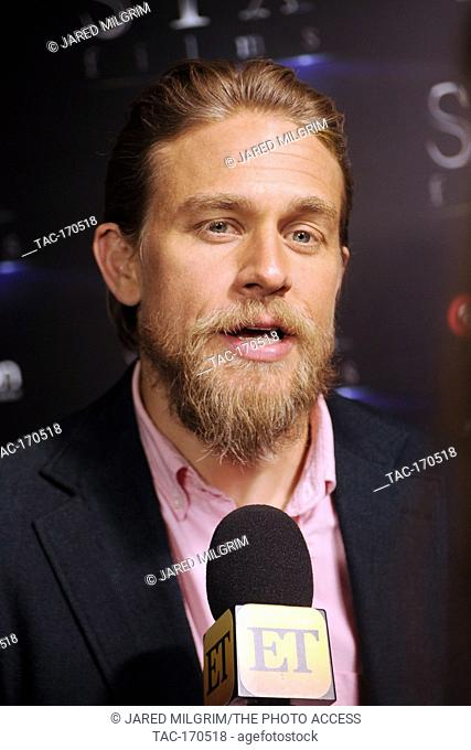 "Actor Charlie Hunnam arrives at the STXfilms presentation red carpet for CinemaCon's """"The State Of The Industry: Past, Present and Future"""" at The Colosseum at..."