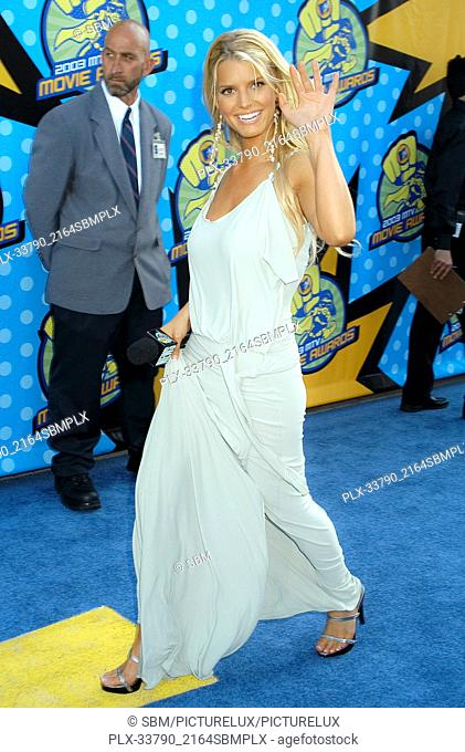 Jessica Simpson at the 2003 MTV Movie Awards, held at The Shrine Auditorium in Los Angeles, CA. The event took place on Saturday, May 31, 2003