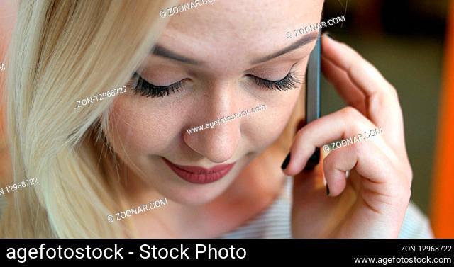 pretty businesswoman using smart phone