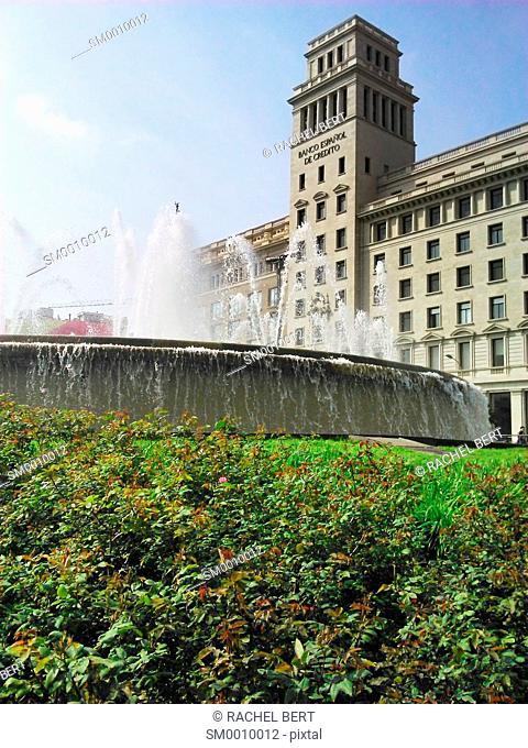 Catalunya square, Barcelona, Catalonia