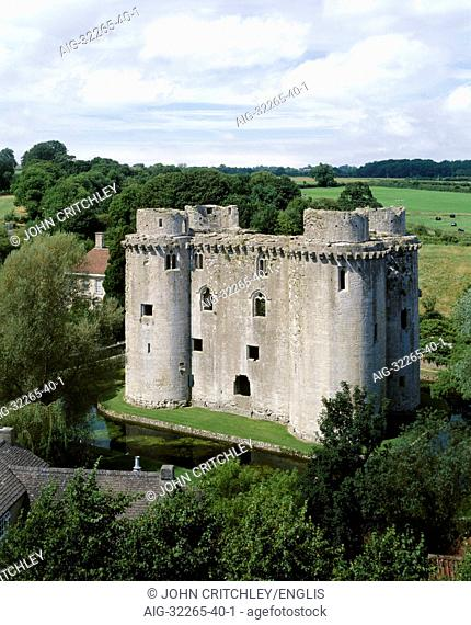 Nunney Castle. 14th century castle. View from the south east