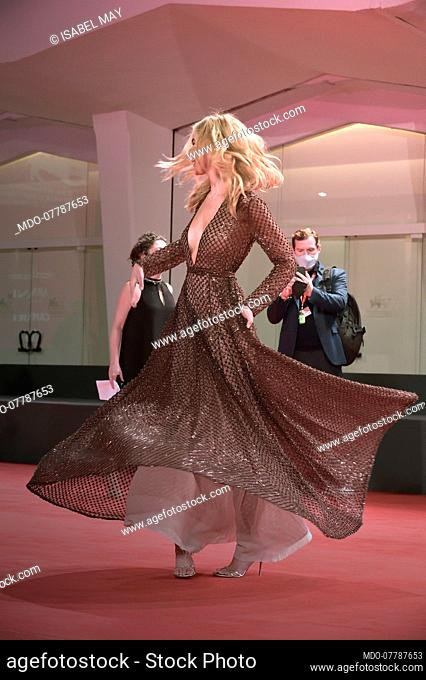 American actress Isabel May at the 77 Venice International Film Festival 2020. Run Hide Fight red carpet. Venice (Italy), September 10th, 2020