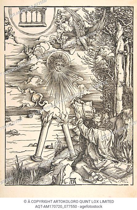 Saint John Devouring the Book, from The Apocalypse, n.d., Woodcut, sheet: 17 3/8 x 12 1/16 in. (44.1 x 30.6 cm), Prints, Albrecht Dürer (German
