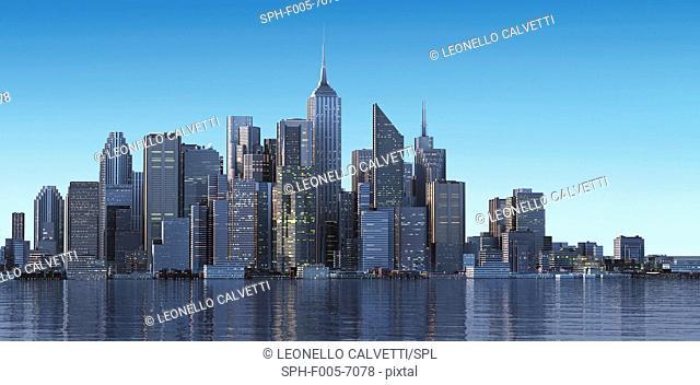 Cityscape, computer artwork