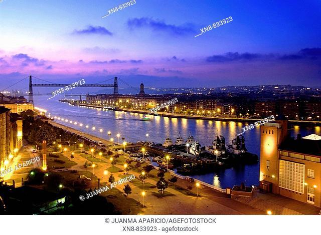 Puente colgante de Portugalete en Bizkaia
