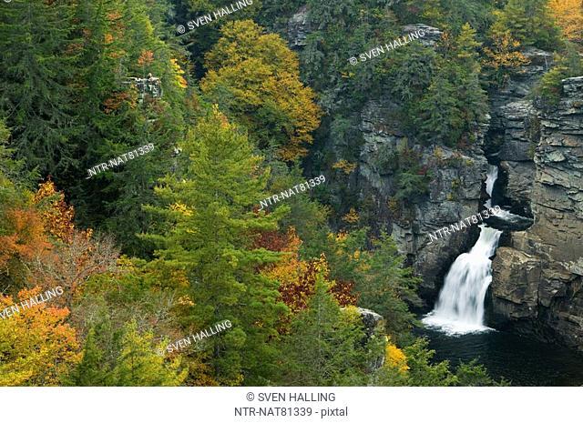 A waterfall in the Appalachian Mountains, USA