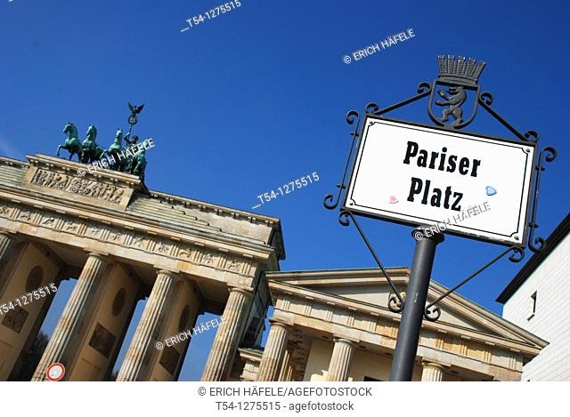 Pariser Platz at the Brandenburg Gate in Berlin