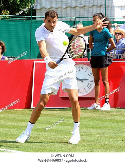 Aspall Tennis Classic - Day 3 at Hurlingham Club in London Featuring: Grigor Dimitrov Where: London, United Kingdom When: 28 Jun 2018 Credit: WENN.com