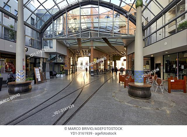 A shopping mall in Christchurch New Zealand