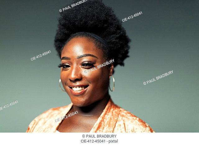 Portrait smiling, confident woman