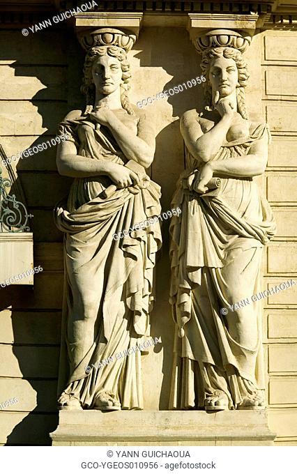 Facades, Place de La Comedie, Montpellier, France