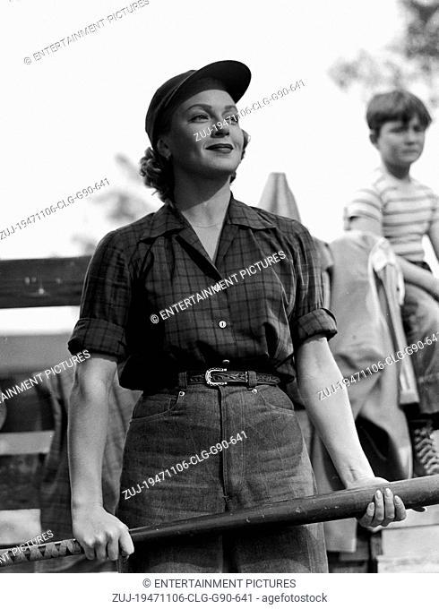 RELEASED: Nov 06, 1947 - Original Film Title: Cass Timberlane. PICTURE: LANA TURNER. (Credit Image: © Entertainment Pictures/Entertainment Pictures/ZUMAPRESS
