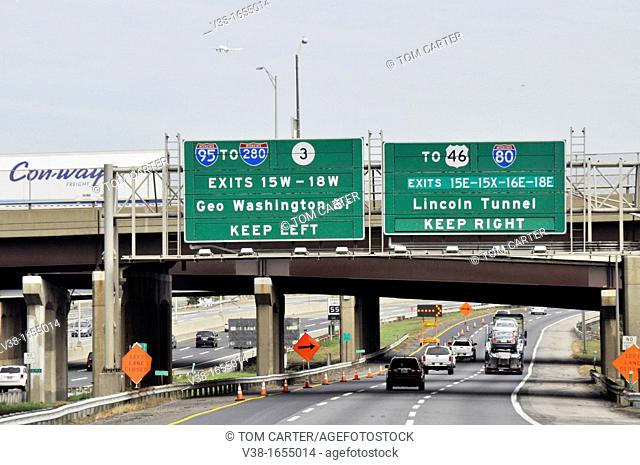 Exit signs for New York City