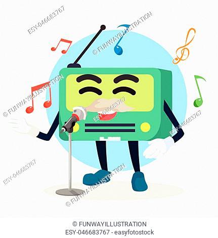 old radio singing