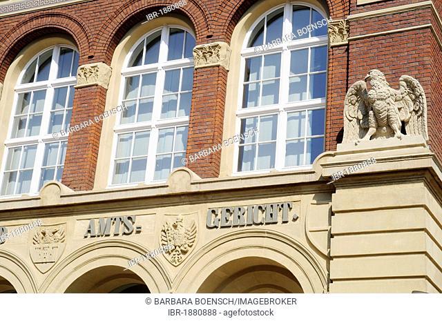 County and district court, Duisburg, Ruhrgebiet region, North Rhine-Westphalia, Germany, Europe