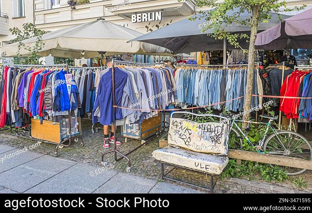 second hand clothes store, prenzlauer berg, berlin, germany