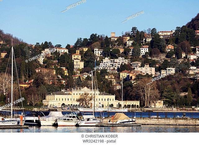 Villa Olmo in neoclassical architecture, Como Town, Lake Como, Lombardy, Italian Lakes, Italy, Europe
