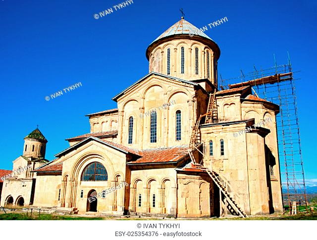 Gelati Monastery , Georgia. It contains the Church of the Virgin founded by the King of Georgia David the Builder in 1106