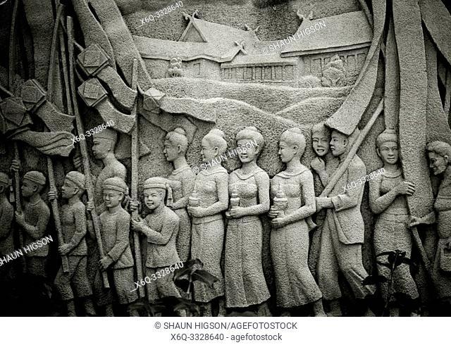 Thai history in Princess Mother Memorial Park in Bangkok in Thailand in Southeast Asia Far East