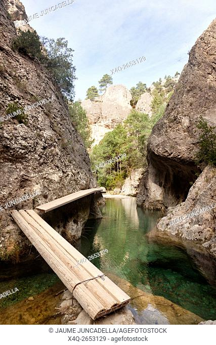 Matarranya river gorge in Spain