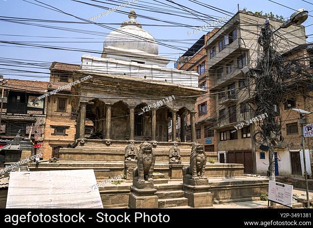 Hindu temple in the streets of Lalitpur (Patan), Kathmandu valley, Nepal