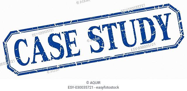 case study square blue grunge vintage isolated label