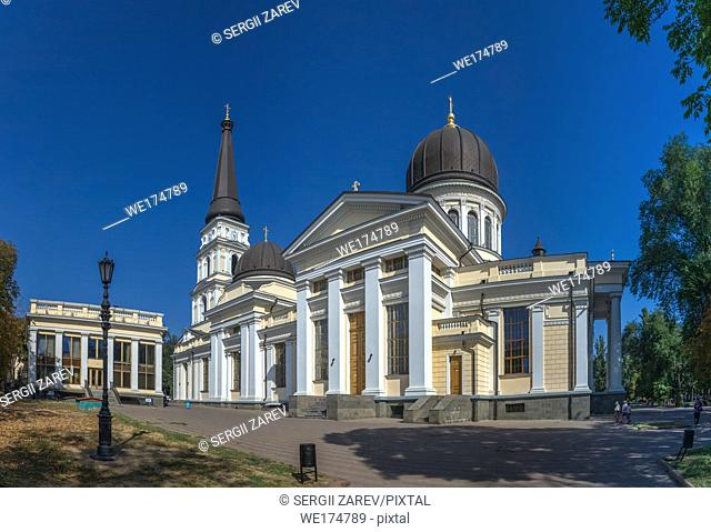 Odessa, Ukraine - 08. 30. 2018. Odessa Orthodox Cathedral of the Saviors Transfiguration in Ukraine, Europe