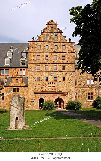 Armoury built 1585-1590 next to New Castle Giessen Hesse Germany