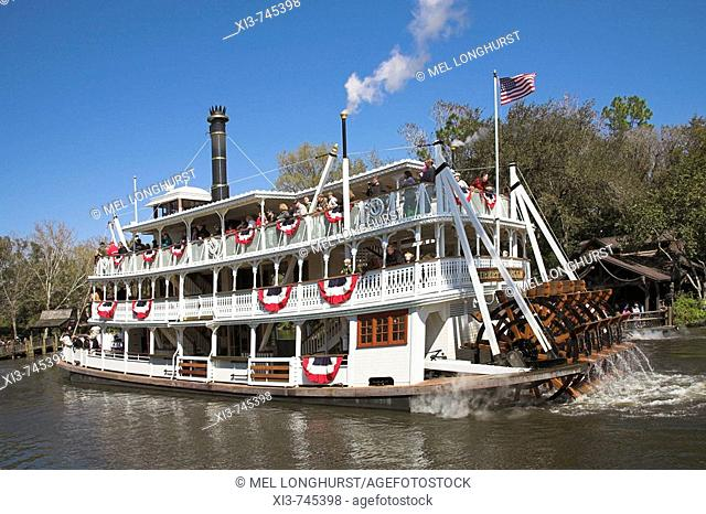 Liberty Belle Paddle Steamer, Liberty Square Riverboat, Magic Kingdom, Disney World, Orlando, Florida, USA